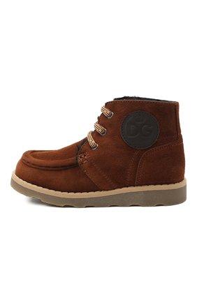 Детские замшевые ботинки DOLCE & GABBANA коричневого цвета, арт. DA0953/A1275/24-28 | Фото 2