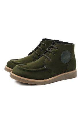Детские замшевые ботинки DOLCE & GABBANA зеленого цвета, арт. DA0953/A1275/37-39 | Фото 1
