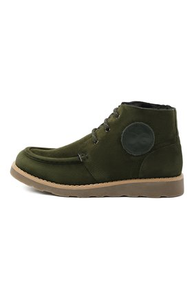 Детские замшевые ботинки DOLCE & GABBANA зеленого цвета, арт. DA0953/A1275/37-39 | Фото 2