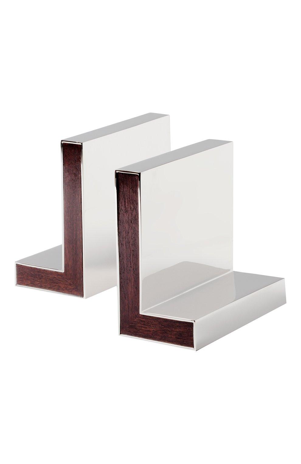 Мужского набор из двух держателей для книг aiden RALPH LAUREN серебряного цвета, арт. 682558095001 | Фото 1