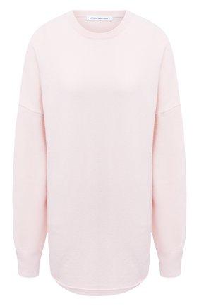 Женский кашемировый свитер EXTREME CASHMERE светло-розового цвета, арт. 053/CREW H0P | Фото 1
