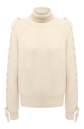 Женский шерстяной свитер JW ANDERSON светло-бежевого цвета, арт. KW0361 YN0056 | Фото 1