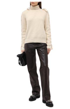 Женский шерстяной свитер JW ANDERSON светло-бежевого цвета, арт. KW0361 YN0056 | Фото 2