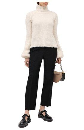 Женский шерстяной свитер JW ANDERSON кремвого цвета, арт. KW0387 YN0066 | Фото 2