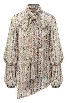 Женская шелковая блузка J.W. ANDERSON разноцветного цвета, арт. TP0115 PG0398   Фото 1