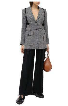 Женские шерстяные брюки J.W. ANDERSON черного цвета, арт. TR0092 PG0011   Фото 2
