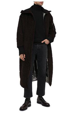 Мужские кожаные ботинки DOLCE & GABBANA темно-коричневого цвета, арт. A60318/A1203 | Фото 2