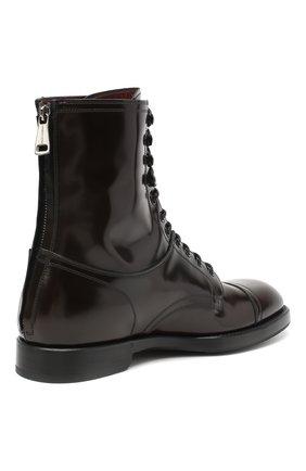Мужские кожаные ботинки DOLCE & GABBANA темно-коричневого цвета, арт. A60318/A1203   Фото 4