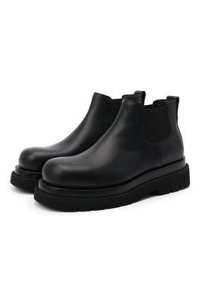 Мужские кожаные челси lug BOTTEGA VENETA черного цвета, арт. 634403/VBS50 | Фото 1 (Материал внутренний: Натуральная кожа; Подошва: Массивная; Каблук высота: Высокий; Мужское Кросс-КТ: Челси-обувь, Сапоги-обувь)