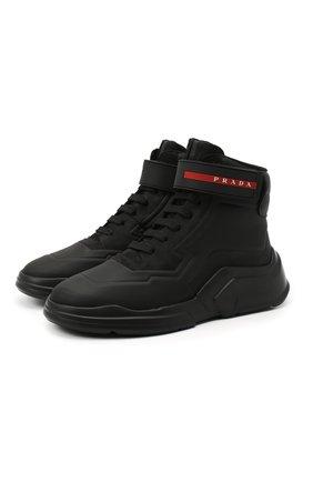 Женские ботинки PRADA черного цвета, арт. 3T6443-HEC-F0002-010 | Фото 1