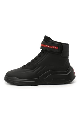 Женские ботинки PRADA черного цвета, арт. 3T6443-HEC-F0002-010 | Фото 2