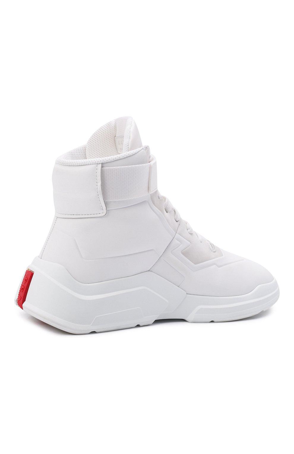 Женские кроссовки PRADA белого цвета, арт. 3T6443-HEC-F0009-010 | Фото 3