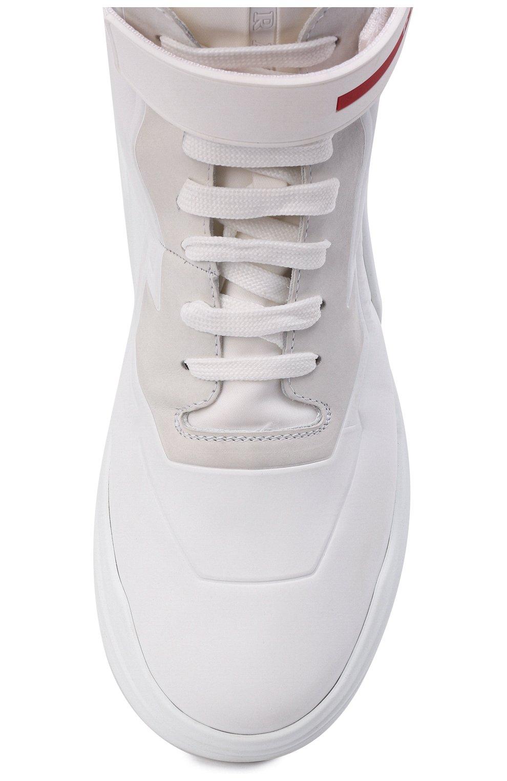 Женские кроссовки PRADA белого цвета, арт. 3T6443-HEC-F0009-010 | Фото 4