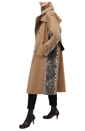 Женские кожаные ботильоны BOTTEGA VENETA темно-коричневого цвета, арт. 610238/VBS00 | Фото 2