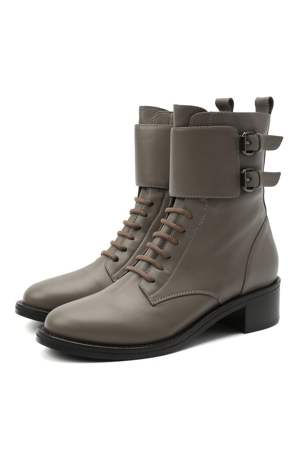 Женские кожаные ботинки jessi LE SILLA серого цвета, арт. 6302R040M1PPCHI   Фото 1