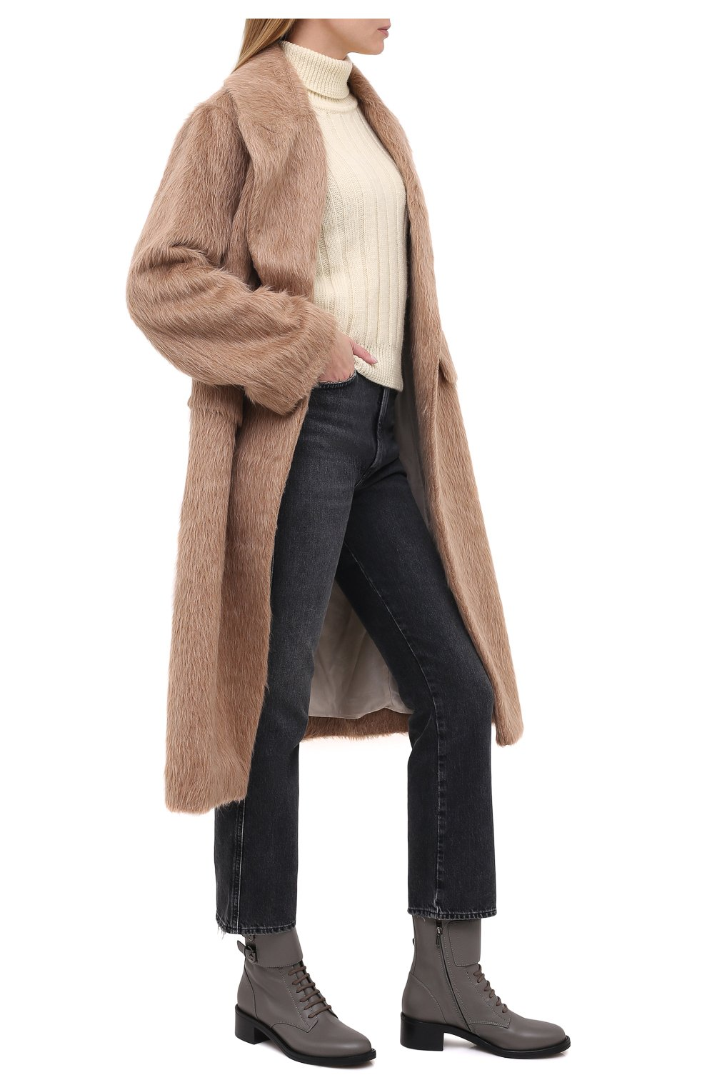 Женские кожаные ботинки jessi LE SILLA серого цвета, арт. 6302R040M1PPCHI   Фото 2