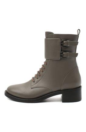 Женские кожаные ботинки jessi LE SILLA серого цвета, арт. 6302R040M1PPCHI   Фото 3