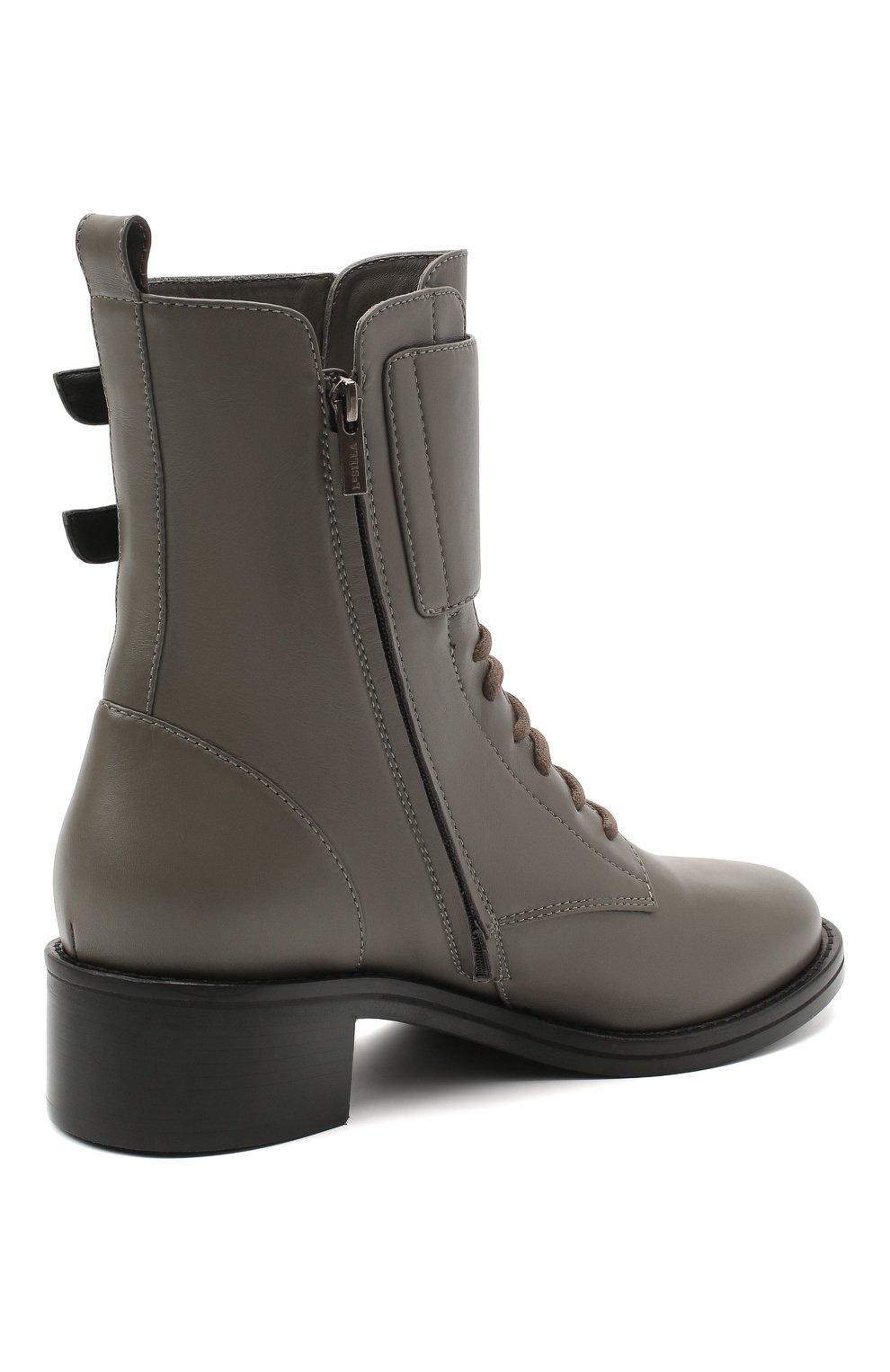 Женские кожаные ботинки jessi LE SILLA серого цвета, арт. 6302R040M1PPCHI   Фото 4