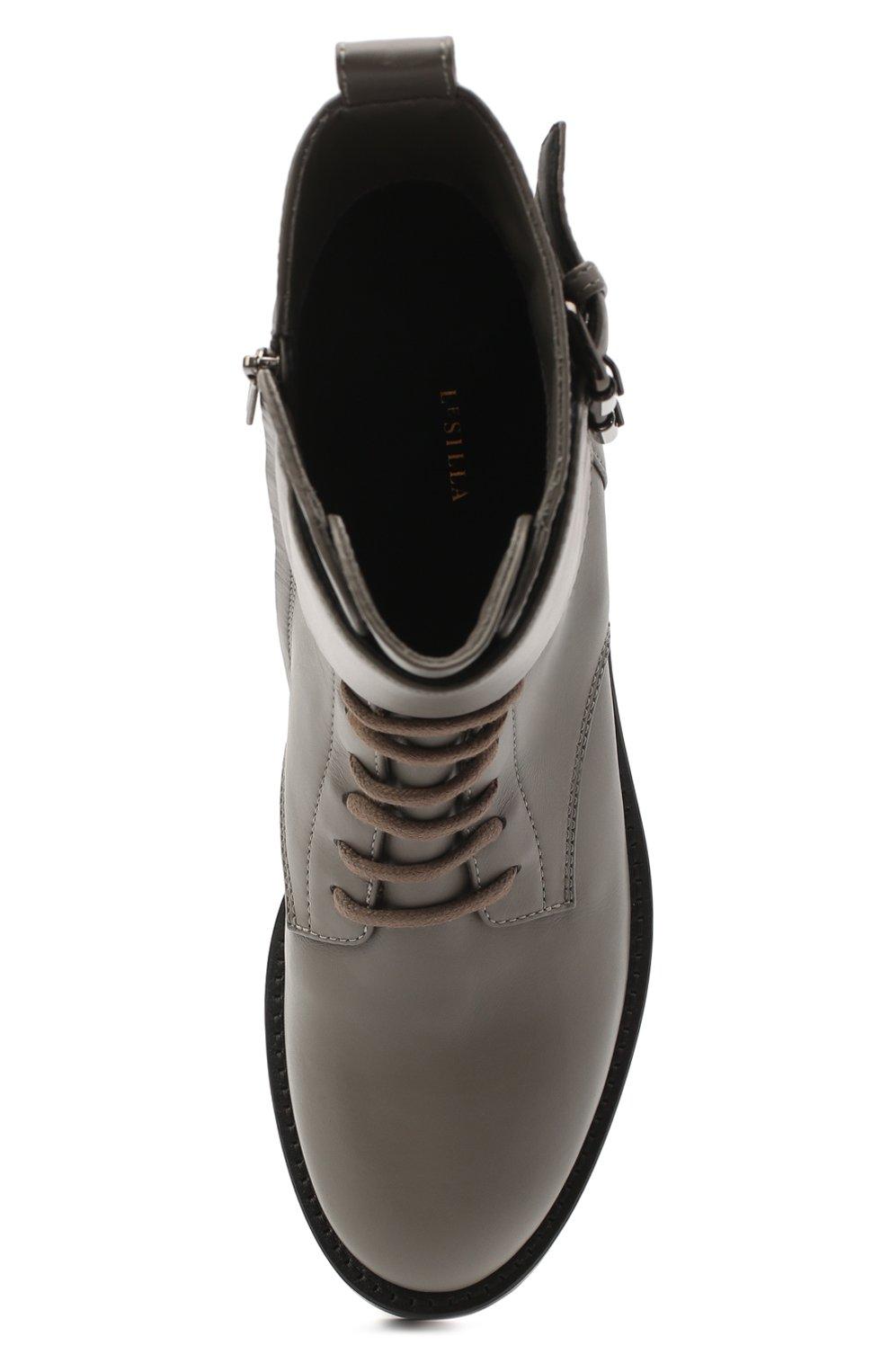 Женские кожаные ботинки jessi LE SILLA серого цвета, арт. 6302R040M1PPCHI   Фото 5