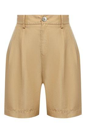 Женские шелковые шорты VINCE бежевого цвета, арт. V654821783 | Фото 1
