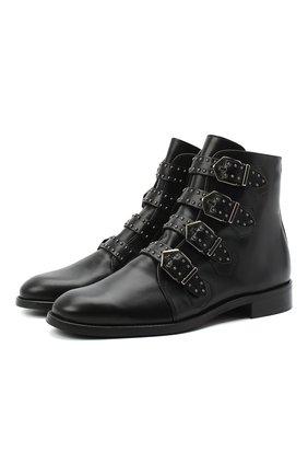 Женские кожаные ботинки PERTINI черного цвета, арт. 192W12901D2 | Фото 1