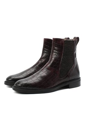 Женские кожаные ботинки PERTINI бордового цвета, арт. 202W16405D1 | Фото 1