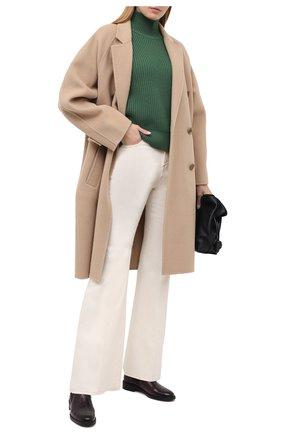 Женские кожаные ботинки PERTINI бордового цвета, арт. 202W16405D1 | Фото 2