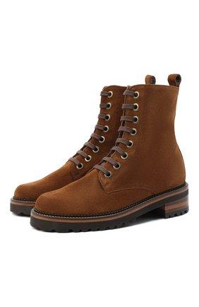 Женские замшевые ботинки PERTINI коричневого цвета, арт. 202W30296C4   Фото 1