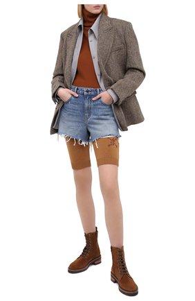 Женские замшевые ботинки PERTINI коричневого цвета, арт. 202W30296C4   Фото 2