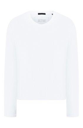 Женская хлопковый лонгслив ATM ANTHONY THOMAS MELILLO белого цвета, арт. AW1323-GAB | Фото 1