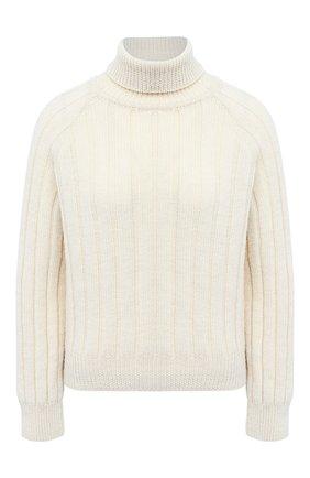 Женский шерстяной свитер TWINS FLORENCE кремвого цвета, арт. TWFAI20MAG0004   Фото 1