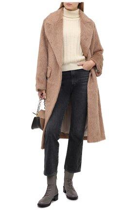 Женский шерстяной свитер TWINS FLORENCE кремвого цвета, арт. TWFAI20MAG0004   Фото 2