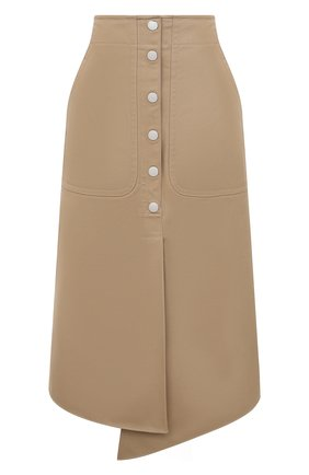 Женская хлопковая юбка TIBI бежевого цвета, арт. P220MY5176 | Фото 1