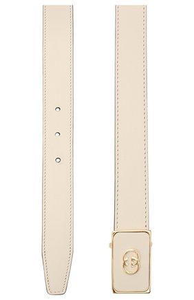 Женский кожаный ремень GUCCI белого цвета, арт. 636886/0YA0G   Фото 2