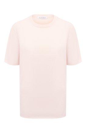 Женская кашемировая футболка EXTREME CASHMERE светло-розового цвета, арт. 064/TSHIRT | Фото 1