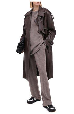 Женские кашемировые брюки EXTREME CASHMERE коричневого цвета, арт. 142/RUN | Фото 2