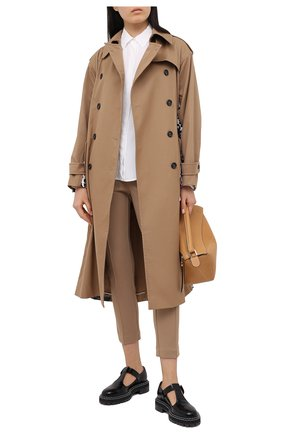 Женские брюки PIETRO BRUNELLI коричневого цвета, арт. P43007/012830 | Фото 2