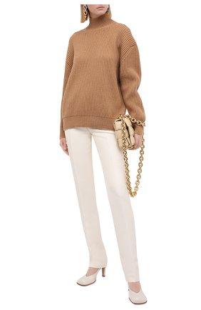 Женские брюки из шерсти и вискозы MARNI белого цвета, арт. PAMA0178U0/TW895 | Фото 2