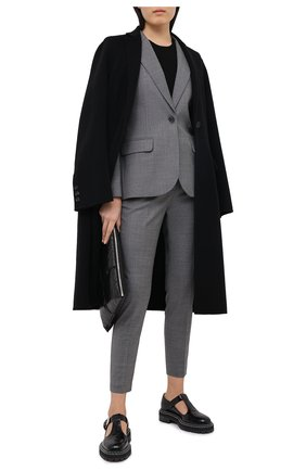 Женские шерстяные брюки BARBARA BUI серого цвета, арт. W1611WAI | Фото 2