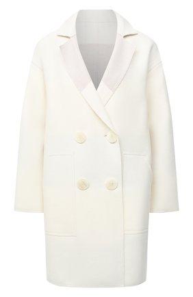 Женское пальто из шерсти и кашемира LORENA ANTONIAZZI кремвого цвета, арт. A2006CP024/3319 | Фото 1