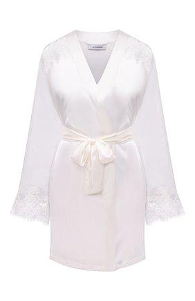 Женский халат I.D. SARRIERI белого цвета, арт. L3061 | Фото 1