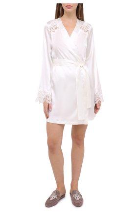 Женский халат I.D. SARRIERI белого цвета, арт. L3061 | Фото 2