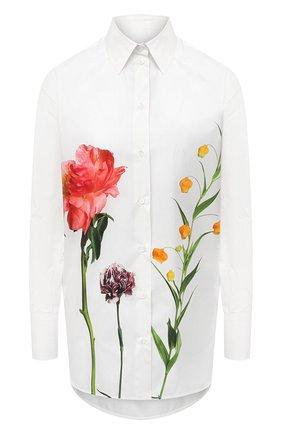 Женская хлопковая рубашка VALENTINO белого цвета, арт. UB0AB19F5YA | Фото 1