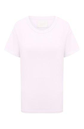Женская хлопковая футболка CITIZENS OF HUMANITY розового цвета, арт. 9185 | Фото 1
