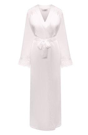 Женский халат I.D. SARRIERI белого цвета, арт. L3071 | Фото 1