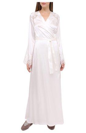 Женский халат I.D. SARRIERI белого цвета, арт. L3071 | Фото 2