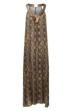 Женское платье из вискозы MARYAN MEHLHORN темно-коричневого цвета, арт. M3044 | Фото 1