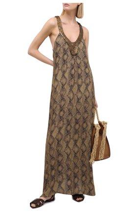 Женское платье из вискозы MARYAN MEHLHORN темно-коричневого цвета, арт. M3044 | Фото 2