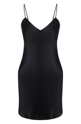Женская шелковая сорочка SIMONEPERELE черного цвета, арт. 15B940 | Фото 1