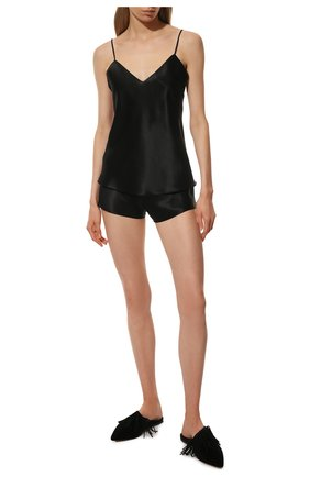 Женская шелковая пижама SIMONEPERELE черного цвета, арт. 15B900-15B640 | Фото 2
